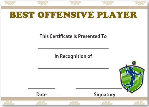 Volleyball best offensive player award