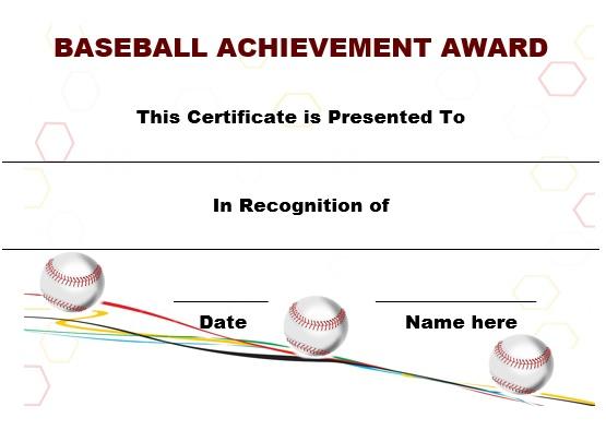 20 attention grabbing free printable baseball certificates demplates yelopaper Gallery