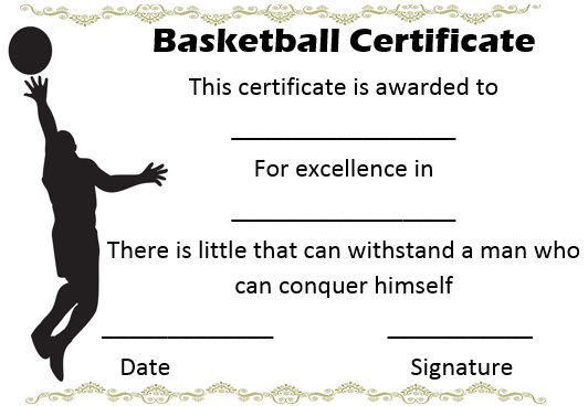 27 professional basketball certificate templates free