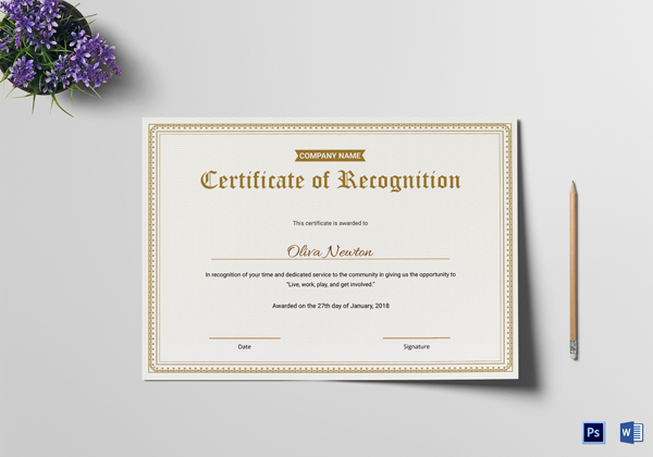 Free Certificates Of Appreciation For Employees Editable - Employee recognition certificate template