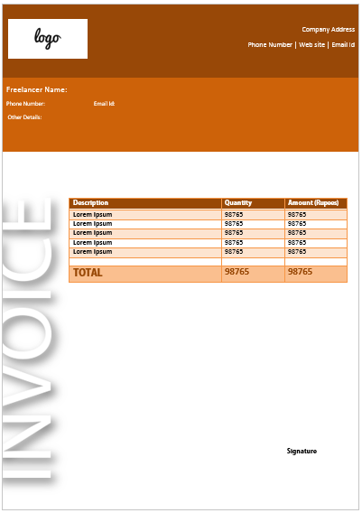 Freelance Invoice Template 12