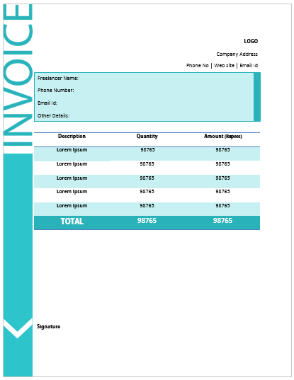 Freelance Invoice Template 2