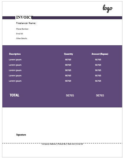 Freelance Invoice Template 3