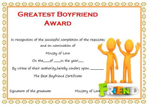 Greatest Boyfriend Award