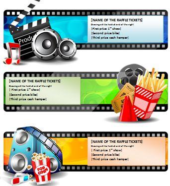 Movie Raffle Ticket Template