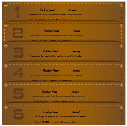 Raffle Ticket Template 11