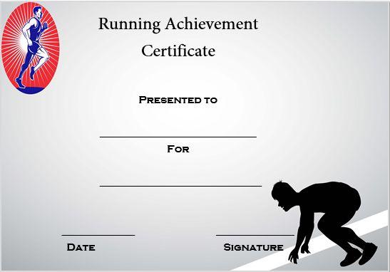 Running Acievement Certificate