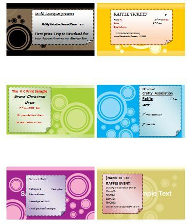 Sample Raffle Ticket Templates