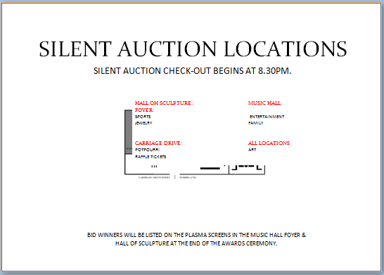Silent Auction Location Display Map