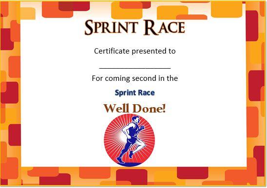 Sprint Race Certificate