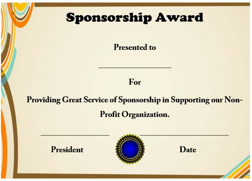 12 elegant certificates of appreciation for sponsorship free word templates