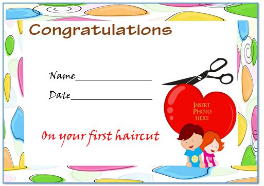 babys first haircut certificate free template 2