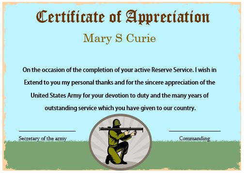 Military certificates of appreciation templates kardas military certificates of appreciation templates yelopaper Choice Image