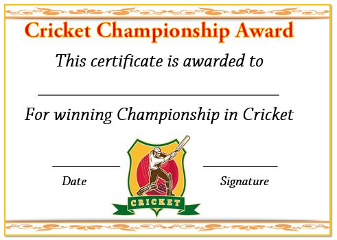 22 well designed cricket certificate templates free word templates 22 well designed cricket certificate templates free word templates demplates yelopaper Images