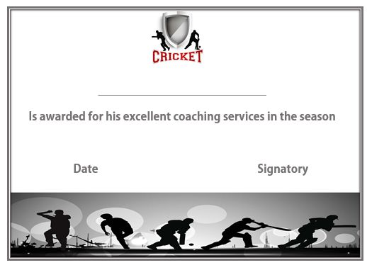 Cricket Coach Certificate