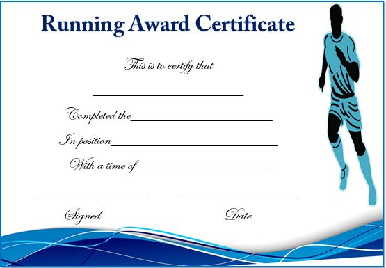 Running certificate templates 20 free editable word for Fun run certificate template