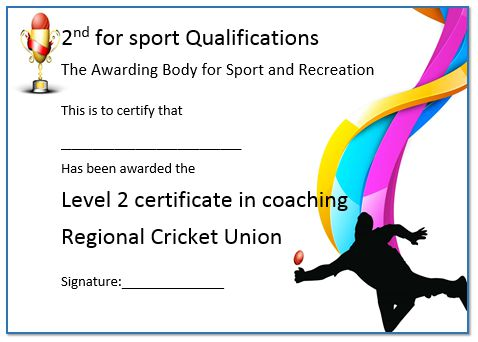 Level 2 Cricket Coaching Certificate
