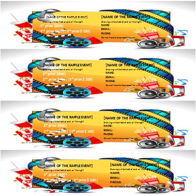 Raffle Ticket Template 8 Per Page