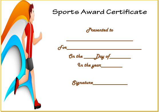 Running Certificate Template
