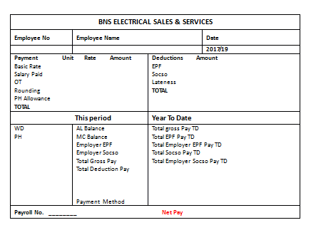 27 Sample Salary Slip Format in Word Templates Components of – Salary Slip Format for Contract Employee