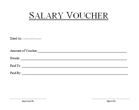 Salary Slip Format For Cash Payment