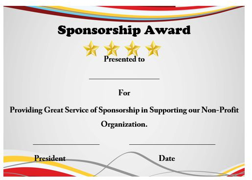 Certificate of appreciation for sponsorship template etamemibawa certificate yadclub Gallery