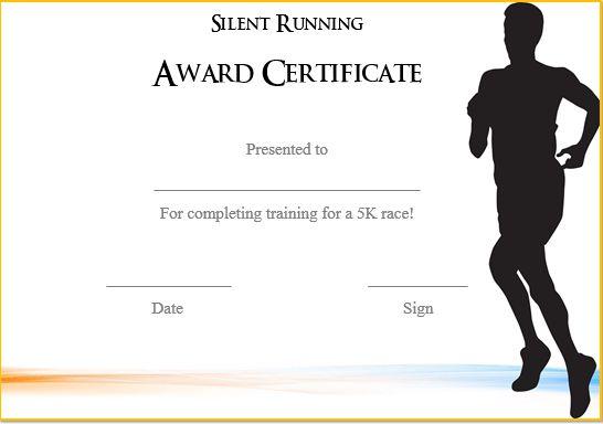 Silent Running Certificate