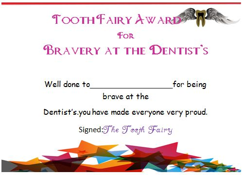 20 Free Tooth Fairy Certificates In Stunning Printable Word Docs