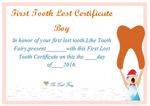 20 Free Tooth Fairy Certificates In Stunning Printable Tooth Fairy