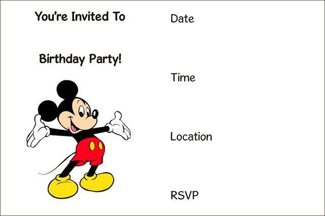 birthday invitation template 21