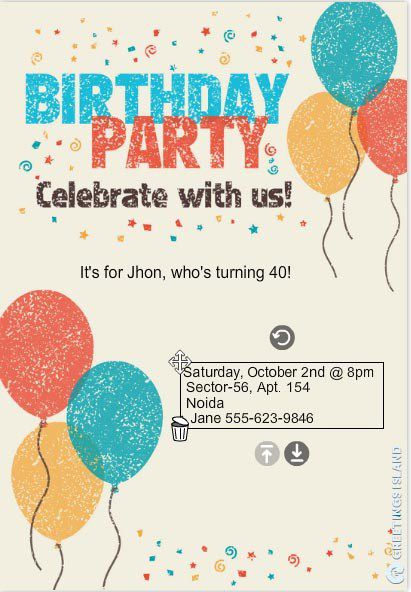 birthday invitation template 3