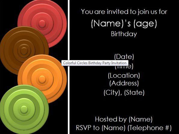birthday invitation tenmplate 35