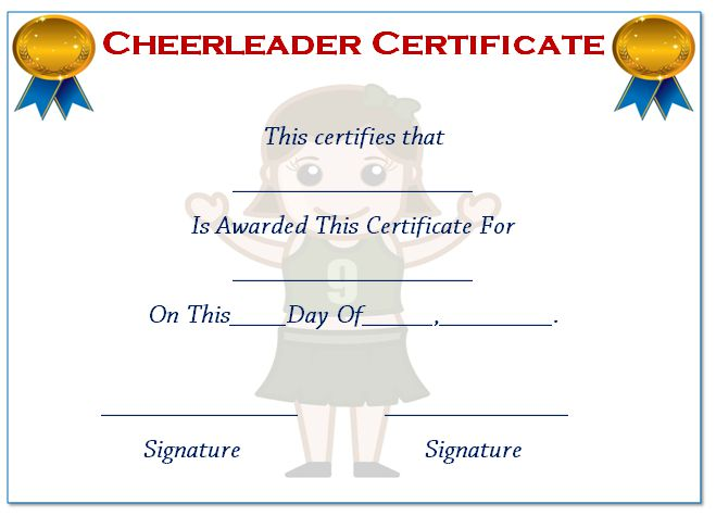 Cheer Coach Certification Choice Image Certificate Design Template