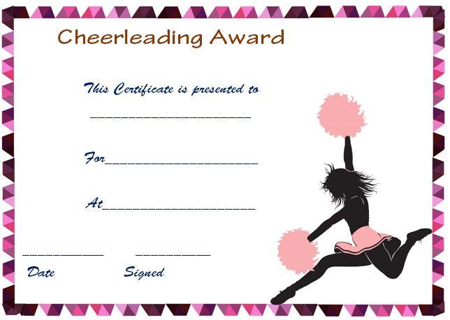 Cheerleading Certificate Free