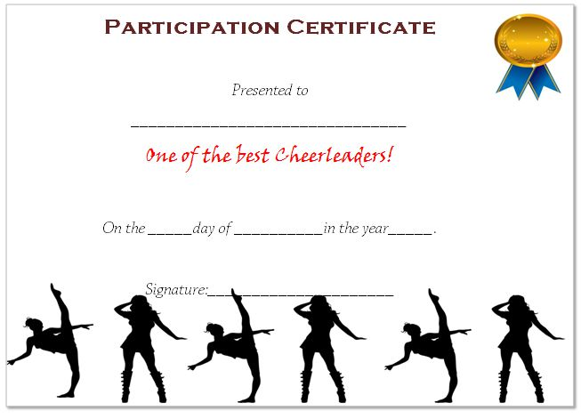 Cheerleading Participation Award