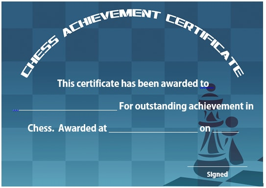 23 free printable chess certificates you can use for chess chess achievement certificate 2 yelopaper Images