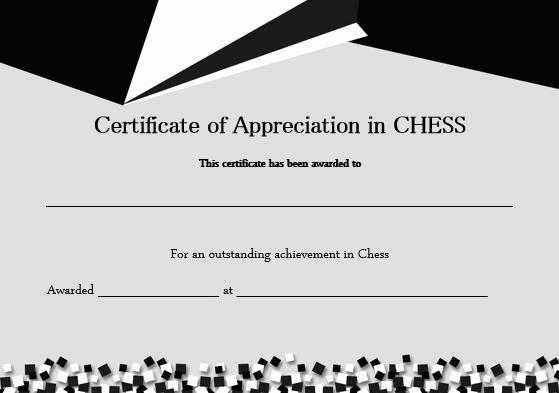 Chess Award Certificate Template