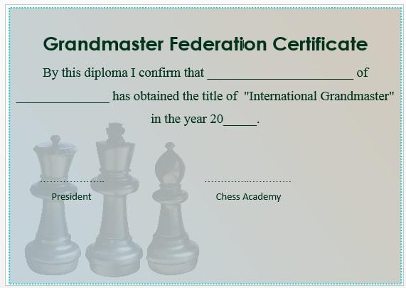 Chess Grandmaster Certificate 2