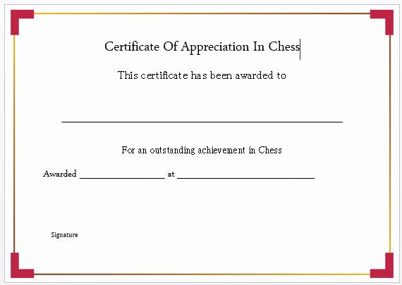 Chess Master Certificate