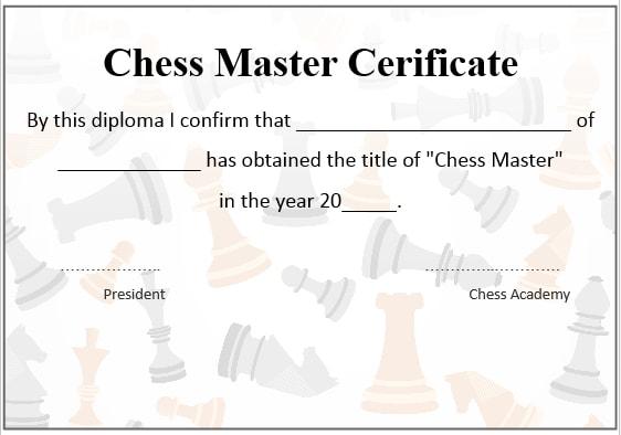 Chess Master Certificate 2