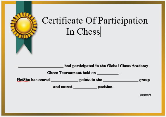 23 Free Printable Chess Certificates You Can Use For Chess