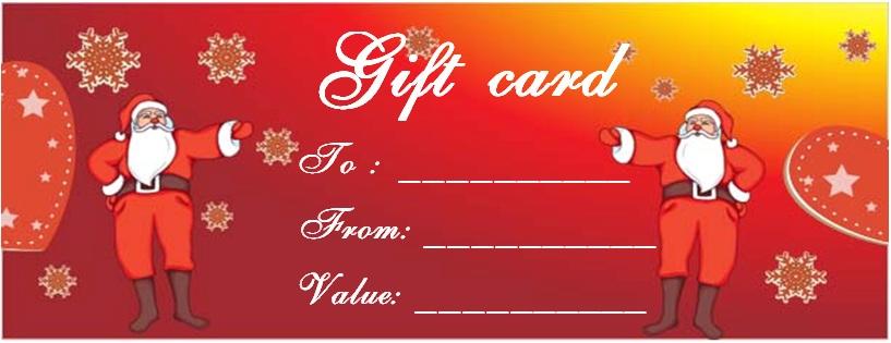 Christmas dinner gift certificate template