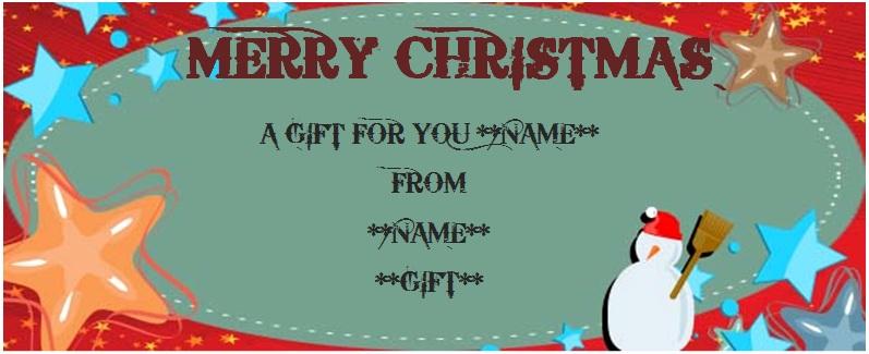 Christmas dinner gift certificate templates