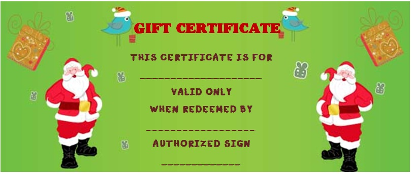 Christmas Gift Certificate Templates - 31+ Word, PSD Templates ...