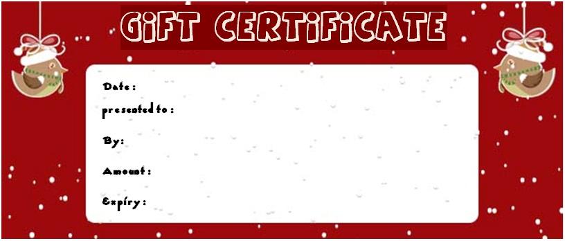 Christmas massage gift certificate template