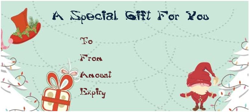 Christmas massage gift certificate templates