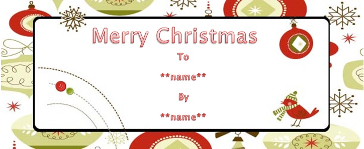 Christmas money gift certificate templates