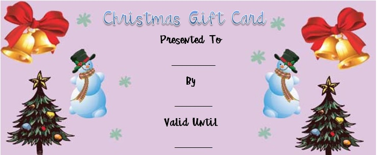 Christmas tree gift certificate templates