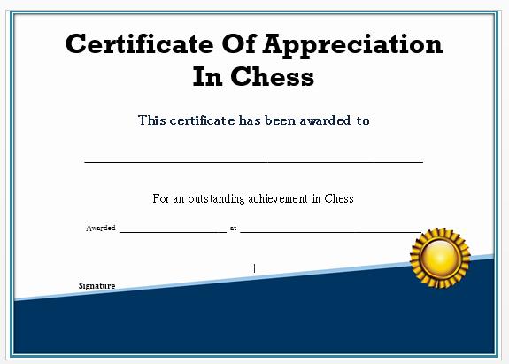 Fide Chess Certificate