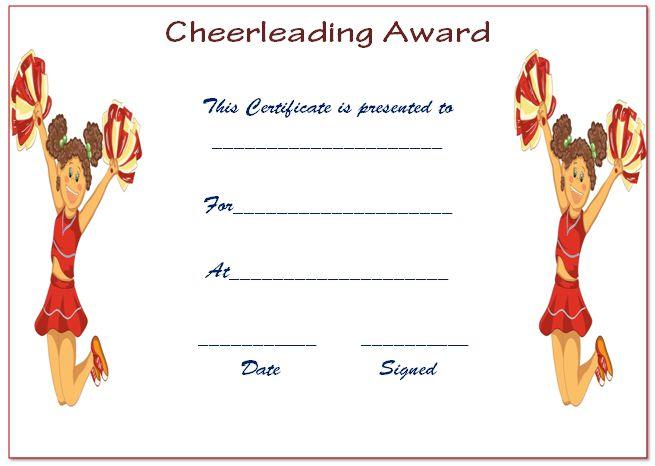 Free Cheerleading Certificate